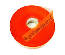 Стрічка сигнальна Планета Пластик Обережно кабель до 1 кВт 300 мм помаранчевий