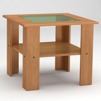 Журнальный столик Компанит Мадрид-МДФ 600х500х600 мм бук