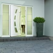 Боковой элемент двери Hormann Thermo 65 400х2100 мм RAL 8028 коричневый
