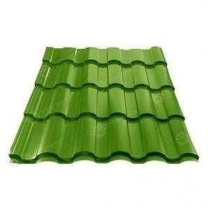 Металлочерепица Сталекс VALENCIA 400/20 0,45 мм PEMA Корея (Dongbu) (RAL6002/зеленый лист)