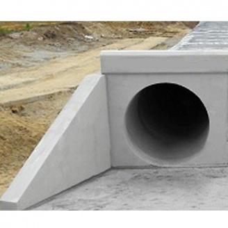 Оголовок портальный ОП-6 для трубчатых сооружений 6000х3000х200 мм