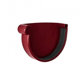 Заглушка ринви ліва Rainway 90 мм червона