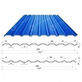 Профнастил Сталекс С-18 1140/1085 мм 0,50 мм PE Германия (Acelor Mittal) (RAL5005/сигнально-синий)