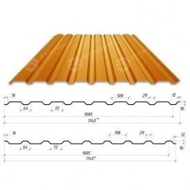 Профнастил Сталекс С-18 1140/1085 мм 0,50 мм PE Германия (Acelor Mittal) (RAL8004/медно-коричневый)