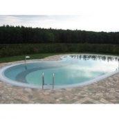 Посилений скловолоконний басейн БЛАКИТНА ЛАГУНА 10,5х4,5х1,2 м