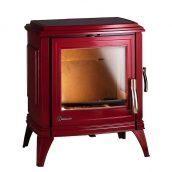 Чугунная печь INVICTA SEDAN 10 12 кВт эмалированная красная