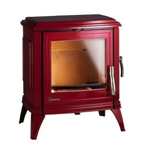 Чавунна піч INVICTA SEDAN 10 12 кВт емальована червона