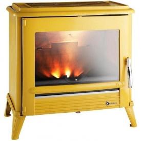 Чугунная печь INVICTA MODENA 12 кВт желтая