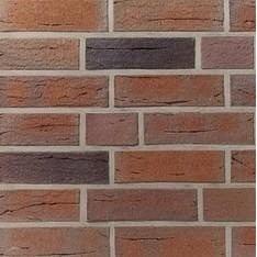Клінкерна лицьова цегла Terca B6 240х115х71 мм червона строката