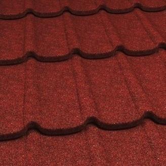 Композитная металлочерепица Gerard Diamant 1260х400 мм spanish red