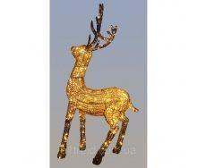 Светодиодная скульптура Золотой олень 1,35 м