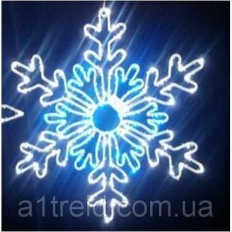 Светодиодный мотив Снежинка 61 см мультиколор