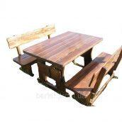 Дитячі дерев'яні столики зі стільчиками і лавками