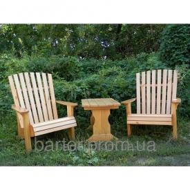 Мебель из массива дерева для дачи, комплект Кресла для отдыха 750*510