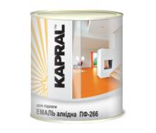 Эмаль Kapral ПФ-266 0,9 кг желто-коричневый