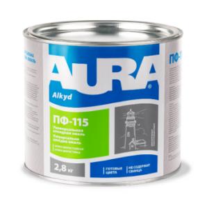 Эмаль Aura ПФ-115 А 2,8 кг светло-серый