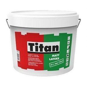 Краска интерьерная Titan Mattlatex 1 л белый