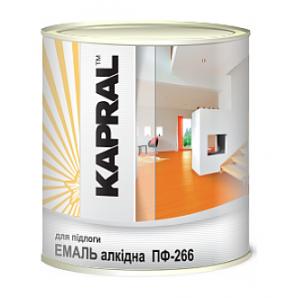 Эмаль Kapral ПФ-266 2,8 кг желто-коричневый
