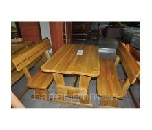 Мебель из натуральгого дерева для кафе, комплект средний деревянный 1500*800