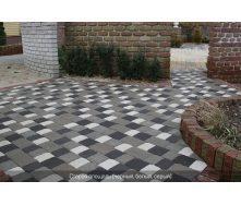 Тротуарна плитка Золотий Мандарин Стара площа на сірому цементі 120х160х80 мм