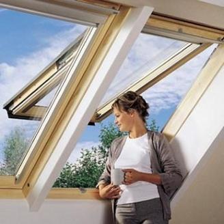Мансардное окно VELUX GPL 3073 Р08 деревянное 94х140 мм