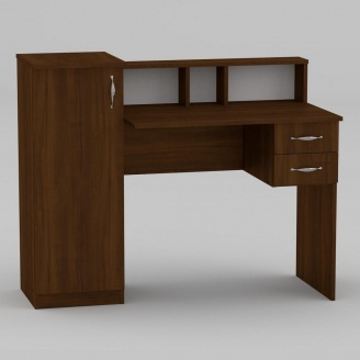 Письменный стол Компанит Пи-Пи-1 1175х550х736 мм орех