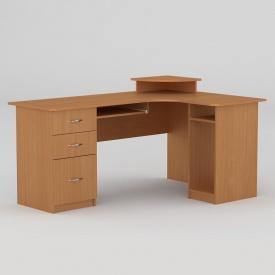 Комп'ютерний стіл Компанит СУ-3 1600х1100х756 мм бук