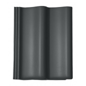 Цементно-песчаная черепица BRAAS Дабл S Cisar 420х330 мм графит