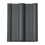Цементно-песчаная черепица BRAAS Франкфурт Lumino 420х330 мм графит