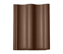 Цементно-піщана черепиця Braas Харцер Люміно коричнева