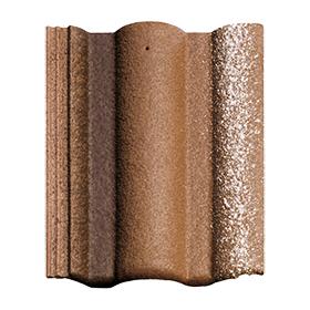 Цементно-піщана черепиця BRAAS Адрія Slury 420х330 мм коричневий
