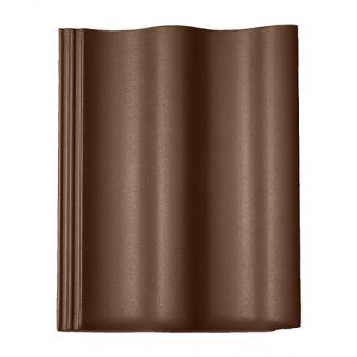 Цементно-песчаная черепица Braas Харцер Люмино коричневая
