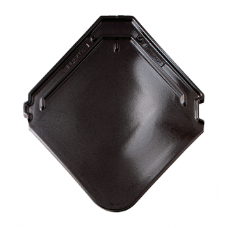 Черепица Braas Изумруд Глазурь 475х433 мм кристально черный