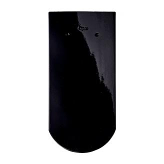 Черепица Braas Опал Топ глазурь 380х180 мм бриллиантово-черный