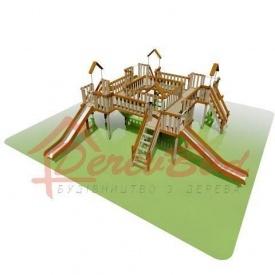 Дитячий майданчик LUX 4 для дітей 1-14 років 1060x1060 мм 240 см