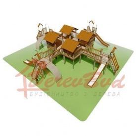 Дитячий майданчик LUX 5 для дітей 1-14 років 1390x1390 мм 390 см