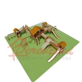 Дитячий майданчик LUX 7 для дітей 1-14 років 1390x1420 мм 390 см
