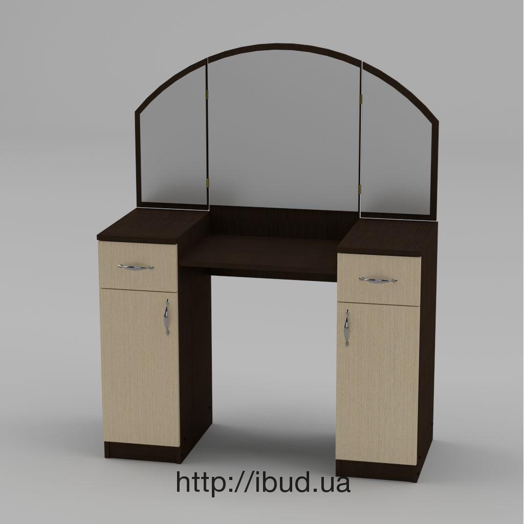 туалетный столик компанит трюмо 4 1010х1300х420 мм венге цены