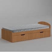 Кровать Компанит-90+2 944х650х2042 мм ольха