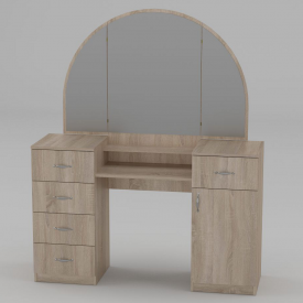 Туалетний столик Компанит Трюмо-5 1400х1700х420 мм дуб сонома