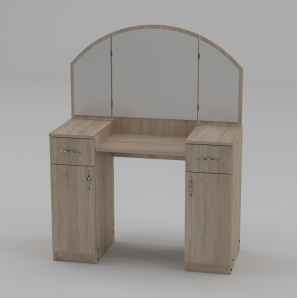 Туалетный столик Компанит Трюмо-4 1010х1300х420 мм дуб сонома