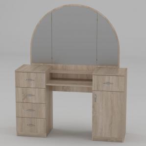 Туалетный столик Компанит Трюмо-5 1400х1700х420 мм дуб сонома