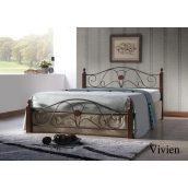 Кровать ONDER MEBLI Vivien 1600х2000 мм античное золото/орех