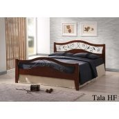 Кровать ONDER MEBLI Tala HF 1600х2000 мм античное золото/орех