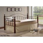 Кровать ONDER MEBLI Day Bed Nika 900х2000 мм античное золото/орех