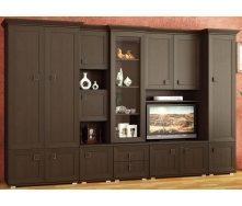 Гостиная Мебель-Сервис Марсель 2100х3200х530 мм венге темный
