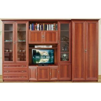 Гостиная Мебель-Сервис Мона Люкс 2100х3250х520 мм орех