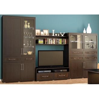 Гостиная Мебель-Сервис Кайман 2 3450х550х2130 мм венге темный