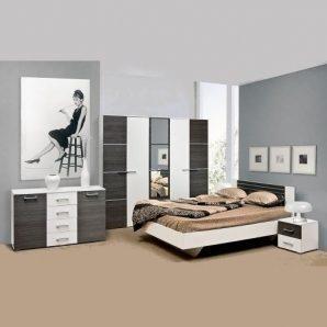 Спальня Мир мебели Круиз 3Д дакар/белая