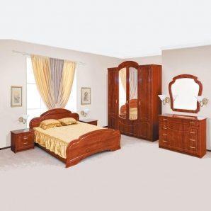 Спальня Світ меблів Камелія кальвадос глянцева